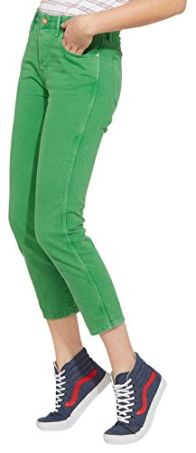 Wrangler Cropped Straight, Jeans Rectos para Mujer Verde (Green 21)