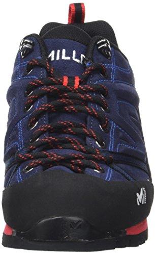 MILLET Unisex Adults' Trident Guide Climbing Shoes Multicolour (Saphir/Rouge 7487) Msq3UsD
