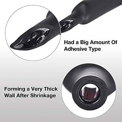 3:1 Waterproof Heat Shrink Tubing Marine Grade Adhesive Lined Heat Shrink Tube 40mm XHF 2 Pcs 1-1//2 Inch Insulation Sealing Oil-Proof 4 Ft Black/&Red