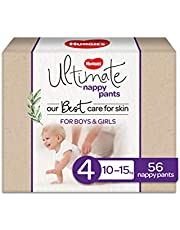 Huggies Ultimate Nappy Pants, Unisex, Size 4 (10-15kg), 56 count