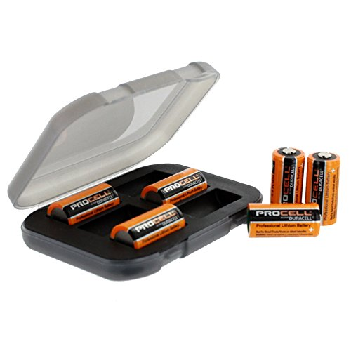 6 Duracell Procell 3V Lithium Batteries Bulk with Battery Case FAST USA SHIP Black Cr123 Lithium Battery