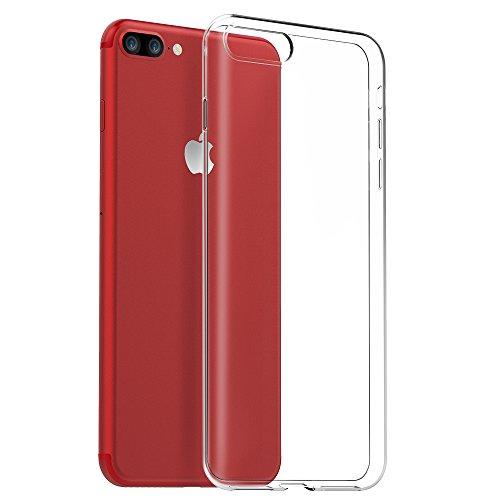 Funda para iPhone 8 Plus iPhone 7 Plus, EasyAcc Case Ligera Cristal Transparente Celular Suave Premium TPU Carcasa Protector para iPhone 8/7 Plus