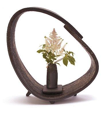 信楽焼陶器 花器 花かご 専用花器付 高さ32.0cm hk-0506 B00D676GXY