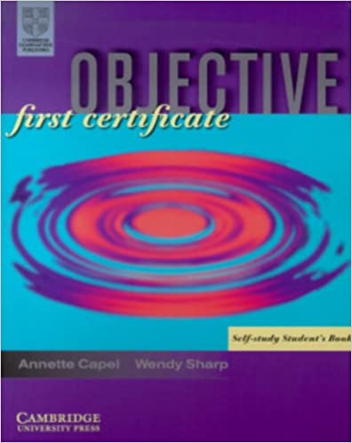 Objective First Certificate Pdf