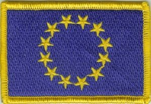 Yantec Patch Europa 4 x 6 cm Flaggenaufn/äher