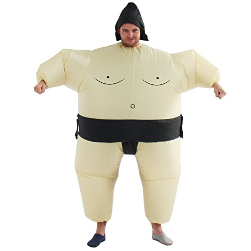 Sumo Mens Costumes Inflatable (Yeahbeer Inflatable Halloween Costume Adult and Children Carry On Animal Fancy Dress Costume (Sumo for)