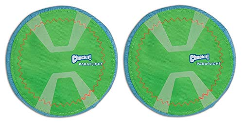 Chuckit! 2 Pack Max Glow Paraflight Dog Toy, Small 6.75-Inch