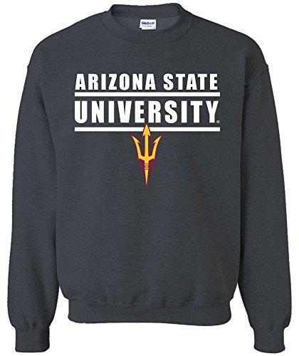 - Image One NCAA Arizona State Sun Devils Adult NCAA Bars Logo Crewneck Sweatshirt,X-Large,DarkHeather