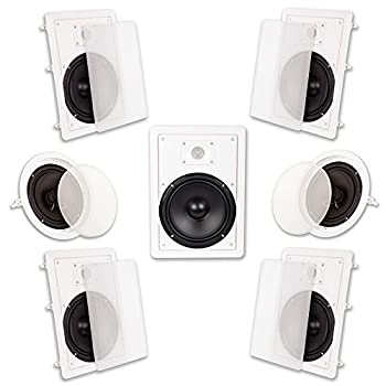 Image of Acoustic Audio HT-87 In Wall In Ceiling 2100 Watt 8' Home Theater 7 Speaker System