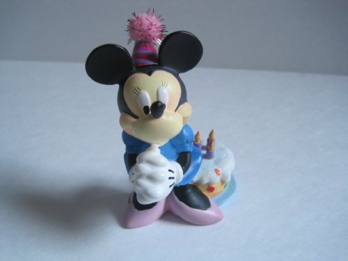 Disney Minnie Mouse Figurine with Striped Party Hat