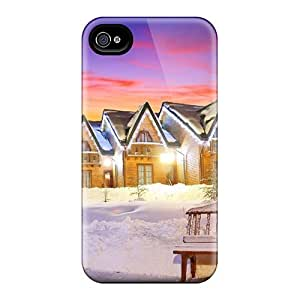 New Arrival Premium 4/4s Case Cover For Iphone (lovely Cabins Lights)