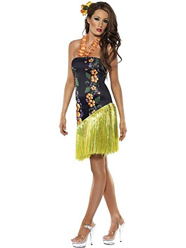 Smiffys Women's Blue/Green Fever Luscious Luau Costume -US Dress 10-12
