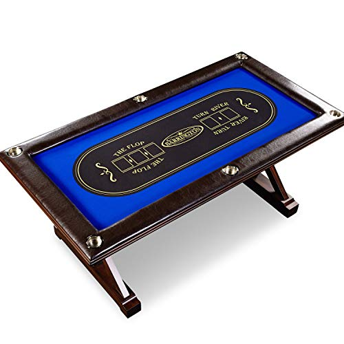 Wood Solid Poker Table - Barrington Premium Solid Wood Poker Cards Game Table