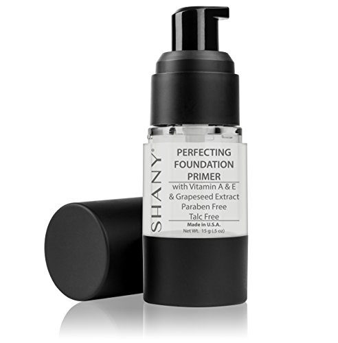 SHANY Mineral Infused Face Primer - Paraben Free/Talc Free, 0.5 Fluid Ounce - Animal Free Makeup Brush Powder