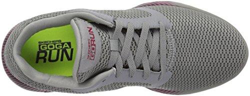 Run Gris para Go Zapatillas Mujer Pink 600 Charcoal Spectra Interior Performance Skechers Deportivas para qEwP0fS