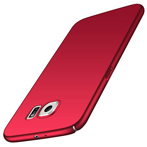 Avalri Samsung Galaxy S6 Case, Ultra Thin Anti-Fingerprint and Minimalist Hard PC Cover for Galaxy S6 (Silky Red)