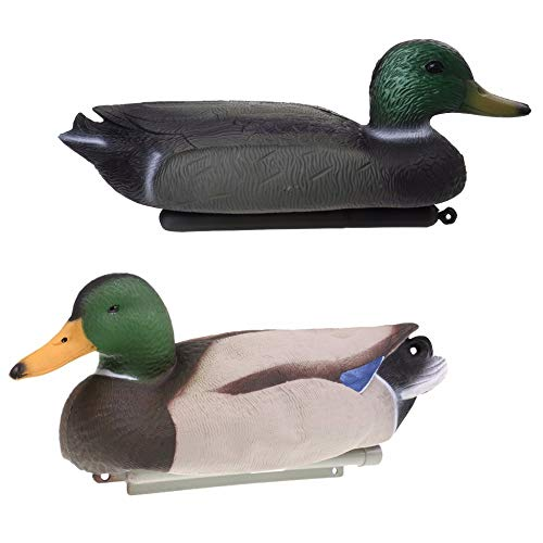 STORE-HOMER - Durable Inflatable 3D Realistic Fishing Duck Decoy Drake with Floating Keel for Outdoor Camping Hunting Tactical - Decoys Keel Water Duck