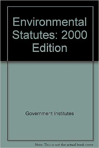 Book Environmental Statutes (Environmental Statistics)
