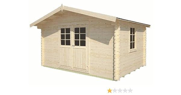Elbe - Casa de jardín con unas medidas aproximadas de 400 x 300 cm y listones con doble machihembrado de 34 mm: Amazon.es: Jardín