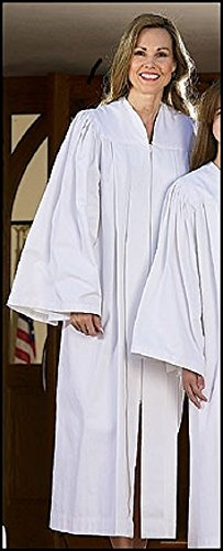Baptismal Candidate Gown for Adult Christian Rite Vestment (Large (5' 10