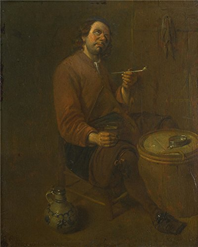 the-high-quality-polyster-canvas-of-oil-painting-arent-diepraem-a-peasant-seated-smoking-size-12-x-1