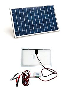 ecoworthy 10w pv solar panel system kit w 3a charge controller u0026 30a battery clips