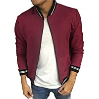 Kings studio Men's Tipped Collar Bomber Jacket Full Sleeves