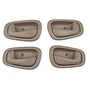 toyota corolla tan interior door handles set of 4 automotive. Black Bedroom Furniture Sets. Home Design Ideas
