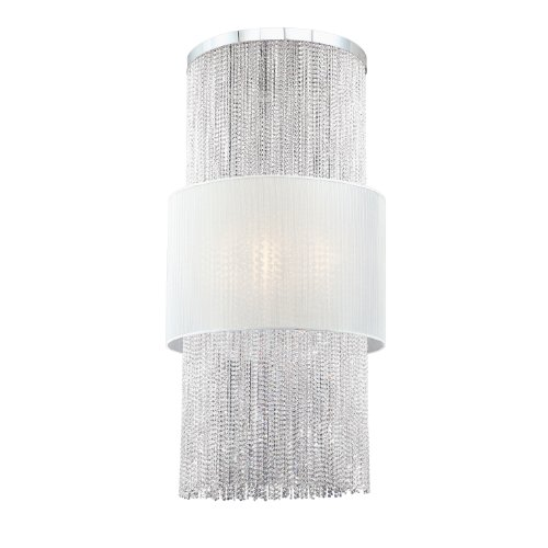Eurofase 20427-010 Harmoni 12-Light Chrome Base Pendant with White Shade