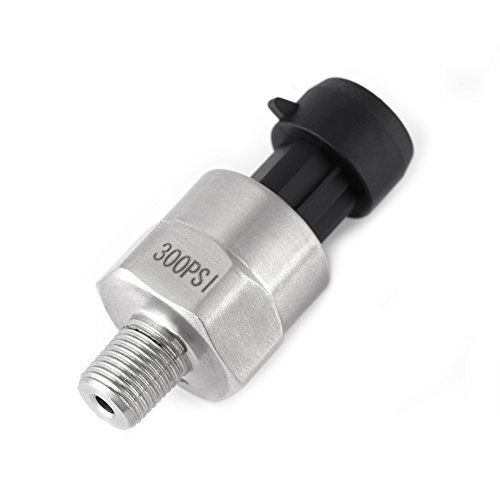Pressure Transducer, 1pc 1/8NPT Thread Stainless Steel Pressure Transducer Sender Sensor for Oil Fuel Air Water, with Complete Surge Voltage Protection - 0.125 Sender Electric