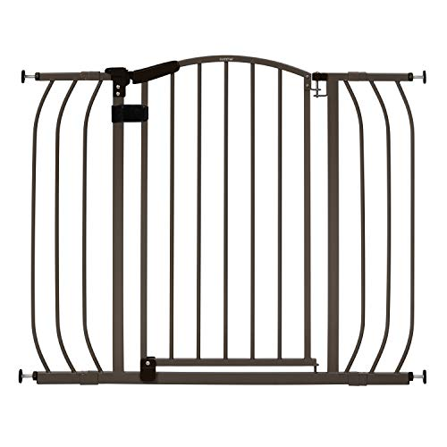 """Summer Home Decor Safety Gate, Bronze, 28"""" - 42"""" Wide for Doorways or Top of Stairs"""