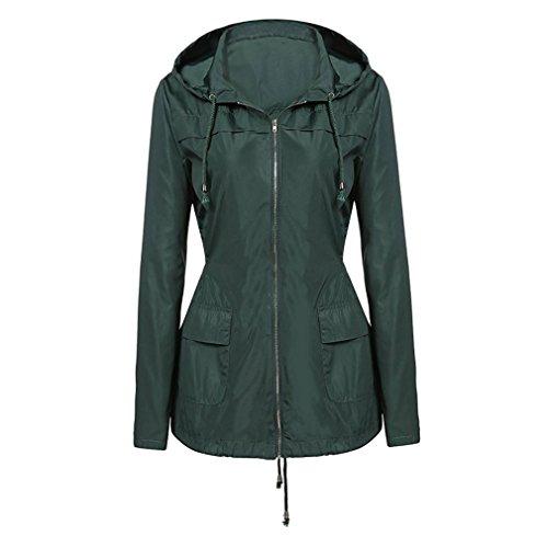 Antipioggia Impermeabile Versatile Army Cappotto Active Green Donna Da Leggera Giacca Outdoor Weimeite dInzpUwqTU