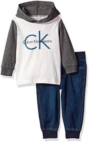 Calvin Klein Baby Boys' Thermal Hoodie Sets
