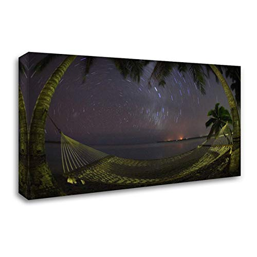 Cook Islands, Aitutaki Night Sky in The Tropics 38x26 Gallery Wrapped Stretched Canvas Art by Anon, Josh
