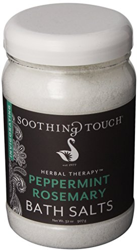 Soothing Touch W67369PR32 Bath Salts Peppermint Rosemary, 32-Ounce (Peppermint Bath Salts compare prices)