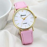 Geneva Fashion Women Wrist Watch,Outsta Diamond Analog Leather Quartz Watches Bracelet for Women Great Gift