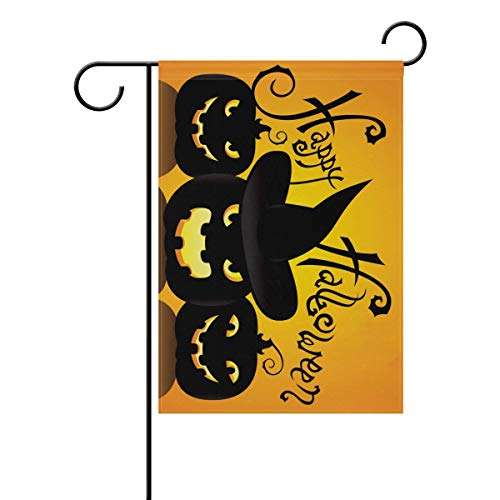 LEISISI Decorative Happy Halloween Clown Pumpkin Garden Flags - Weather Resistant & Double Stitched Farm House Small Decor Flags Set for Indoor & Outdoor Decoration, 28 X 40 Inch]()