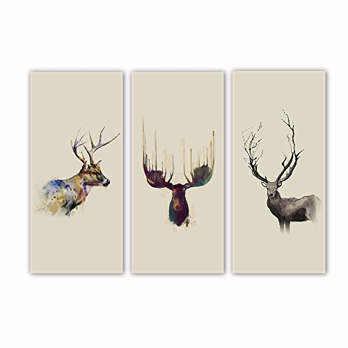 Vv Art Deer Nordic Style Painting Canvas Modern Wall Picture Home Decoration Living Room