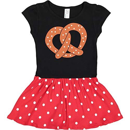 (inktastic - Pretzel Infant Dress 24 Months Black & Red with Polka Dots)