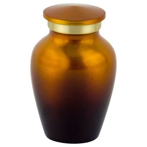 Silverlight Urns Sunset Brass Keepsake Urn, Small Urn for Ashes, Orange, 3 Inches Tall ()