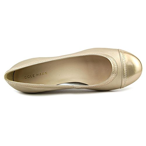 Womens Haan Soft Metallic Elsie Cole Wedge Gold II Toe Cap 47qxT