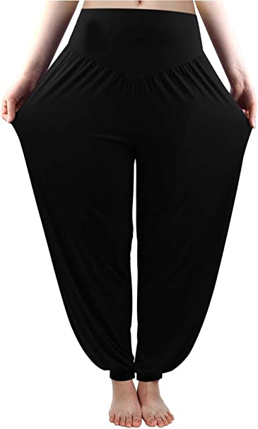 Amazon.com: fitglam pantalones Harem sueltos casuales para ...