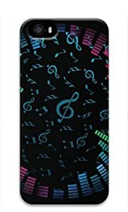 Music Notes Background Iphone 5 5S Hard Protective 3D Case by Lilyshouse