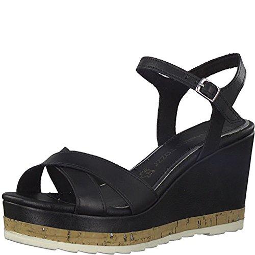 Féminine Mode Sandales Sandales De Marco De Noir Tozzi 5qpIwnt