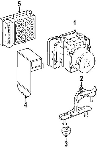 abs control module mercedes - 3