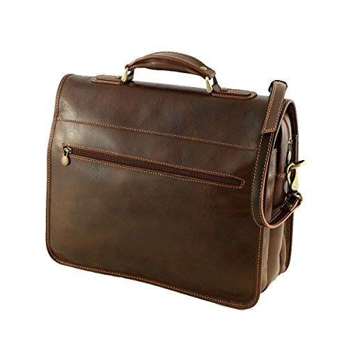 Aktentaschen Leder - 4006 Honig - Echtes Leder Tasche - Mega Tuscany