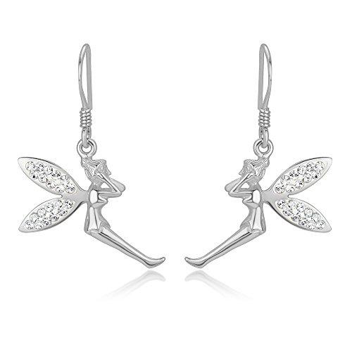 Sterling Silver Zirconia Dangle Earrings product image