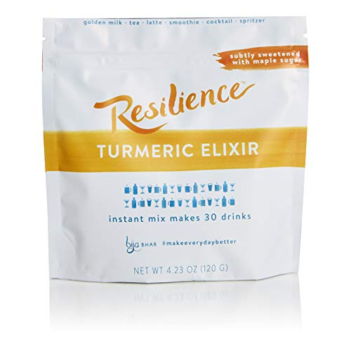 Bija Bhar Resilience Turmeric Elixir, Subtly Sweetened, 100% Organic (30 Serving Pouch – 4.23 Oz)
