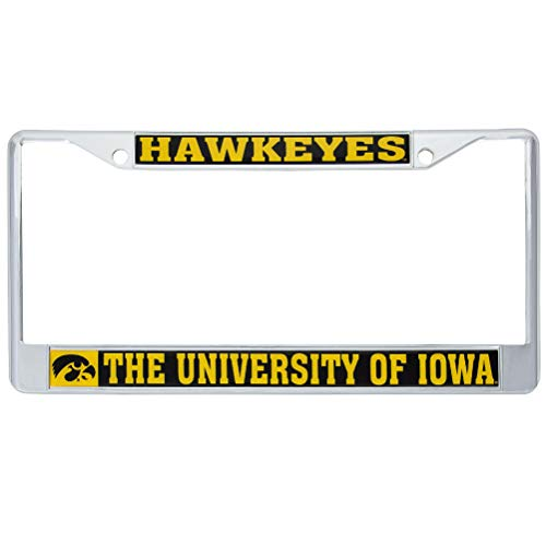Desert Cactus University of Iowa Hawkeyes Metal License Plate Frame for Front Back of Car Officially Licensed (Mascot)
