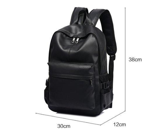 3567ac5d2cc7 Amazon.co.jp: ZEN 黒 リュック バックパック 通学 通勤 ビジネス シンプル 上質 PUレザー 大容量 防水 撥水 デイバッグ  リュックサック メンズ ZBM-070: シューズ& ...